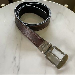 Levi's Reversible Leather Belt on Brown and Black